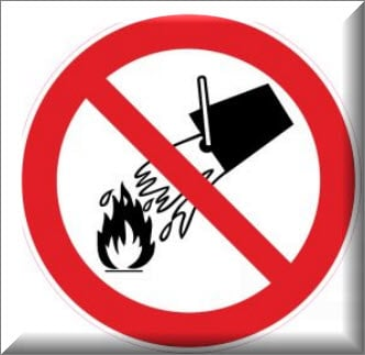 ممنوع استخدام المياه لإطفاء الحريق