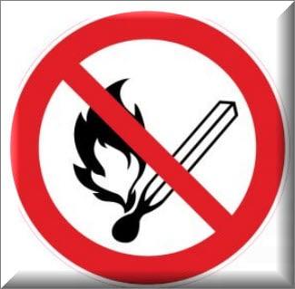 ممنوع اشعال اللهب والتدخين