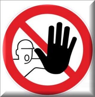 ممنوع الدخول للاشخاص غير المصرح لهم