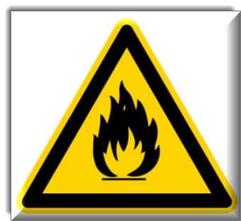 مواد قابلة للاشتعال أو درجات حرارة مرتفعة