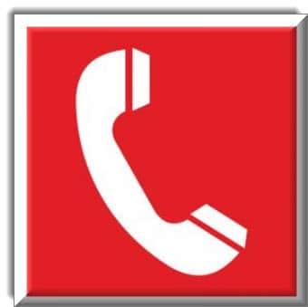 هاتف للإبلاغ عن الحريق