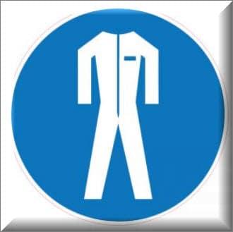 يجب ارتداء بدلة السلامة