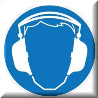 يجب وضع اداة حماية السمع