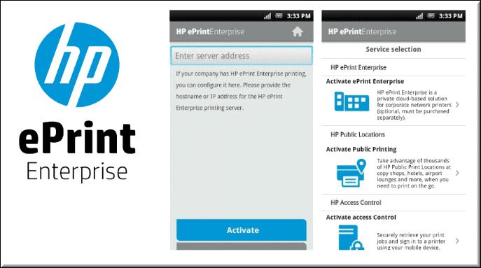 طريقة الطباعة من الجوال لطابعة HP عبر HP ePrint Mobile