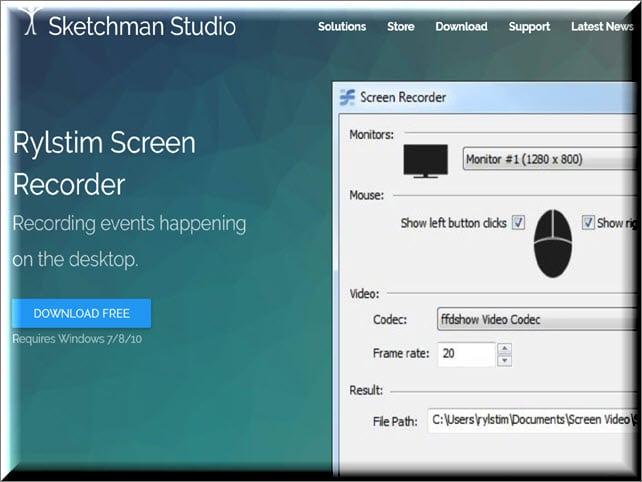 Recording events happening on the desktop.برنامج تصوير سطح المكتب