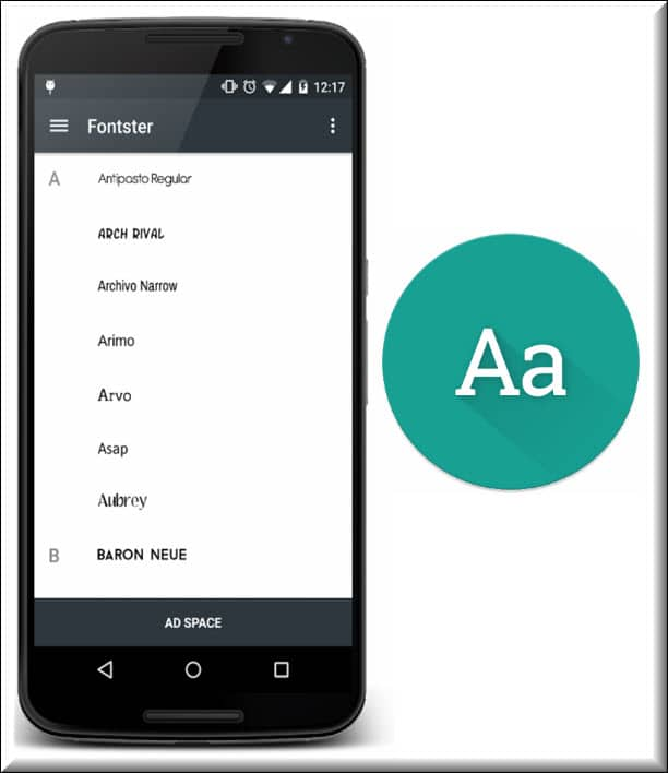 برنامج تغيير خط الهاتف Fontster