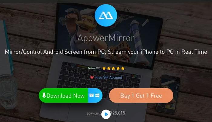 ApowerMirror  برنامج اظهار شاشة الهاتف على الكمبيوتر والتحكم به للاندرويد والايفون