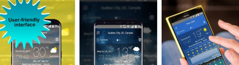 افضل تطبيقات الطقس للاندرويد Today Weather Timeline
